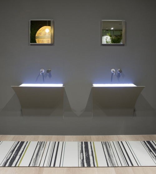 Креативные интегрированные раковины Strappo от Antonio Lupi