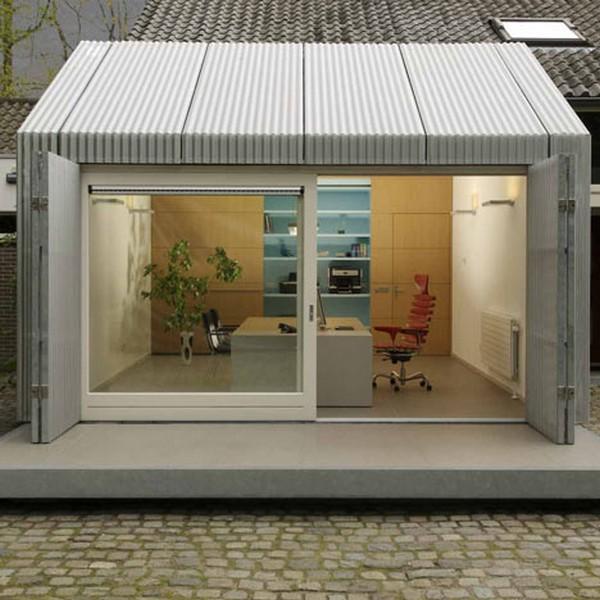 Реинкарнация старого гаража в элегантный мини-офис от architecten¦en¦en