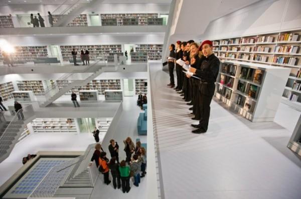 Новая библиотека в Штутгарте (Германия) от Eun Young Yi