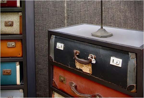 Suitcase Drawers – винтажный комод из старых чемоданов от James Plumb