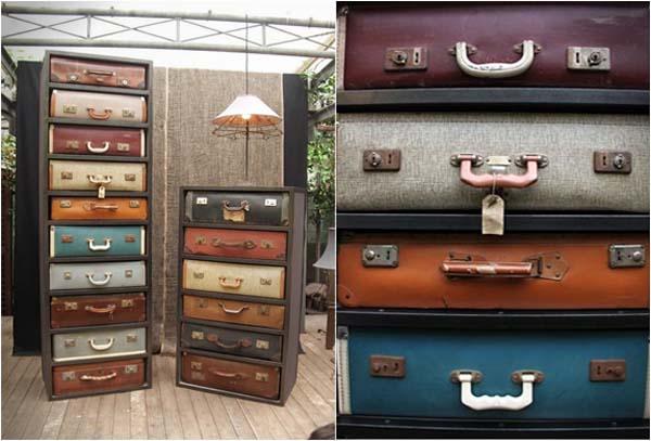 Suitcase Drawers - винтажный комод из старых чемоданов от James Plumb.