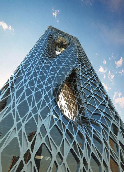 Футуристический проект небоскреба Sunrise Tower от Захи Хадид (Zaha Hadid)