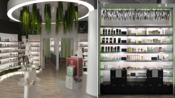 Био-нтерьер бутика Supermarche Sante Avril в Монреале от Tuxedo Agency