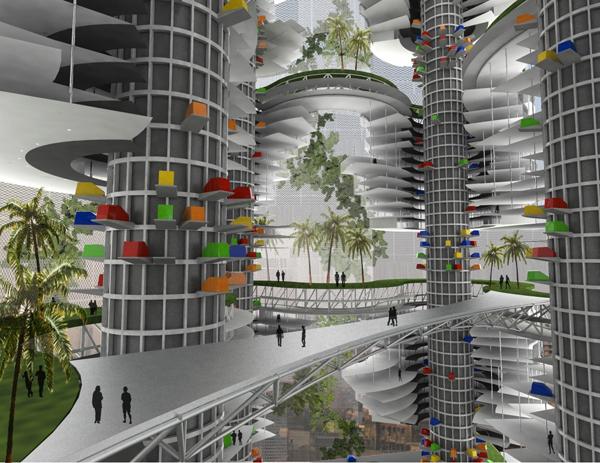 Проект TATA Tower, разработанный для индийского горда Мумбаи