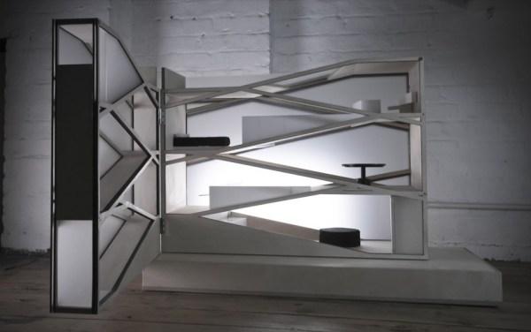 Модернистский дом-лампа для кукол от TDO Architecture