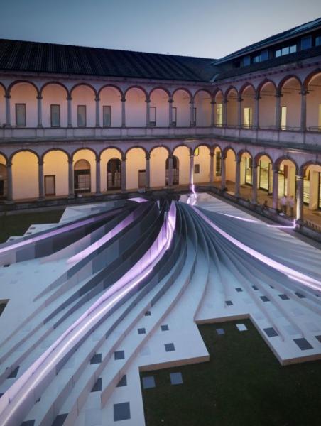 Инсталляция TWIRL от Захи Хадид (Zaha Hadid) в Италии