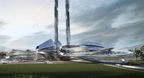 Футуристический проект комплекса Taiwan Tower от Стивена Ма (Steven Ma) в Тайване