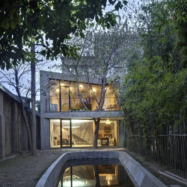 Tea House and library – лесной дом-пещера от Archi-Union Architect