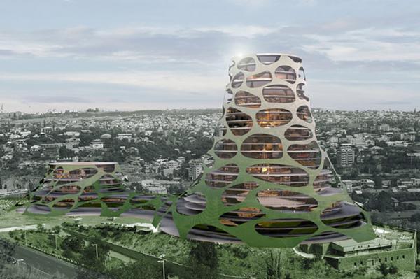 Проект комплекса All Seasons Tent Tower в Армении от OFIS Arhitekti