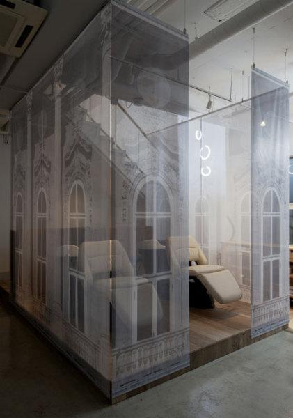 Интерьер японского салона красоты от Takara Space Design