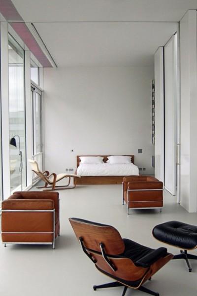 Roof Garden Apartment - инималистский пентхаус с зеленым садом в Лондоне от Tonkin Liu