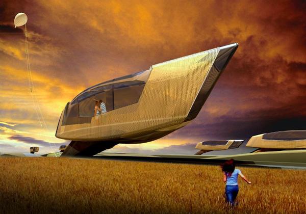 Tornado Proof House - концепция дома для жизни в экстремальных климатических условиях