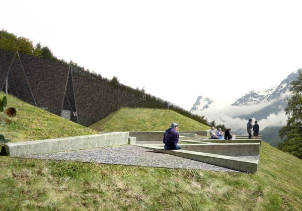 Туристическая остановка возле фьорда Хардангере в Норвегии от Huus og Heim Architecture