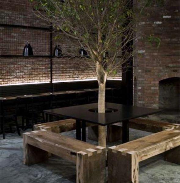 Ресторан вокруг дерева от Мишеля Аббоуда (Michel Abboud) на Манхеттене