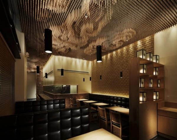 Интерьер японского ресторана Tsujita Такеши Сано (Takeshi Sano)