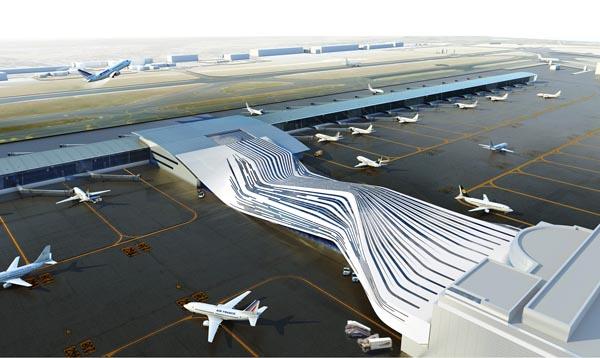 Футуристический проект Брюссельского аэропорта от UNStudio