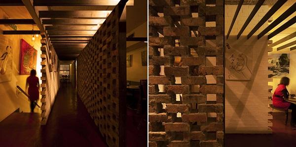 Медитативный туннель японского ресторана Uchi Lounge 02 в Сиднее