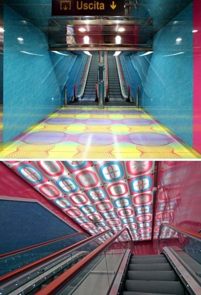 University of Naples - станция метро от Карима Рашида (Karim Rashid) Неаполе (Италия)