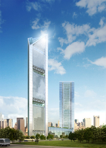 Знаковая архитектура здания VietinBank Business Centre  от Foster + Partners