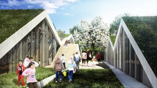 Проект школы с экологическим уклоном от BIG в Дании