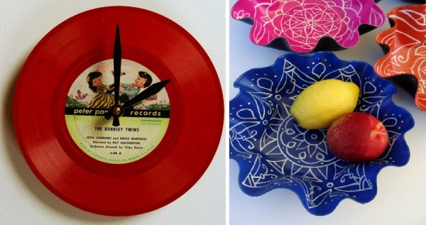 Вторичное использование виниловых пластинок от Кристин Клэринболд (Christine Claringbold)