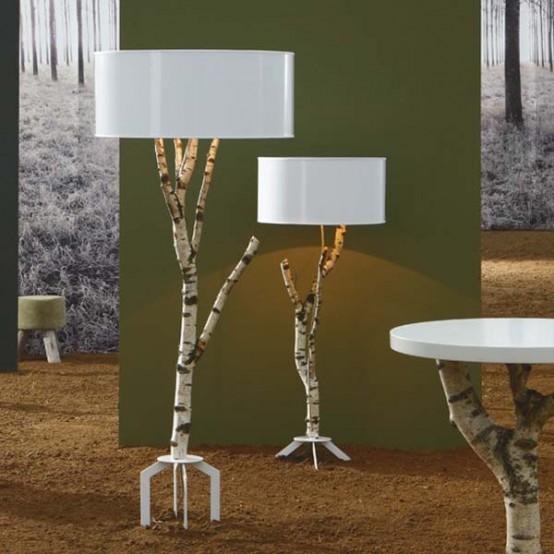 Лампы-березы из эко-линии Volskar Lamp Collection от Blue Nature