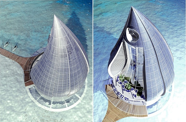 Футуристический проект эко-комплекса Water Building Resort