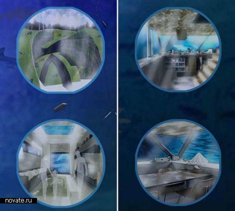 Water-Scraper -  проект плавающего подводного города