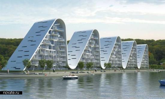 Жилой дом Wave Vejle. Архитектурная мимикрия от Henning Larsen Architects