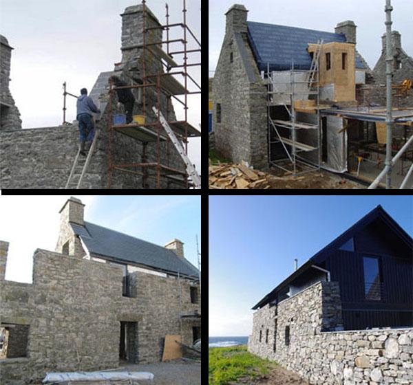 Реставрация старинного дома White House в Шотландии