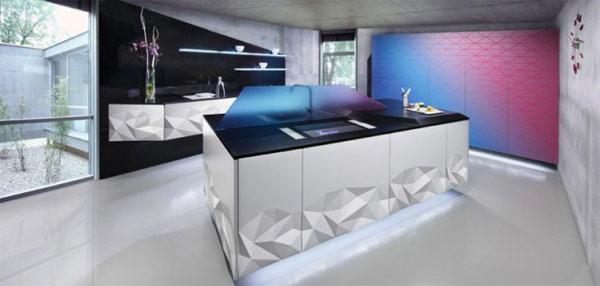 Artica Kitchen – «оригамная» кухня от испанских дизайнеров