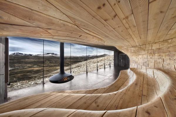 Концептуальный павильон в норвежском заповеднике от Snohetta Oslo AS