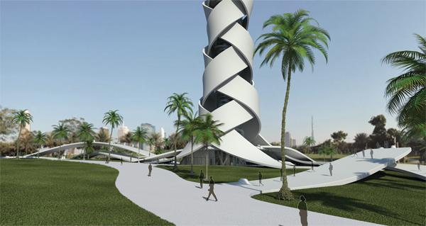 Проект многофункционального небоскреба Woven Tower для Дубая (ОАЭ)