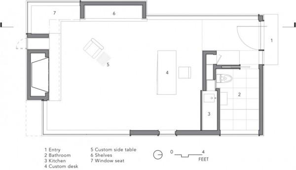 Writer's Studio – лесная дом-студия для писателя в Нью-Йорке