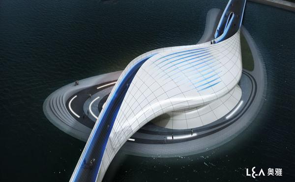 Jiangsu Wuxi Central Park – проект ультра-современного пешеходного моста от китайских архитекторов