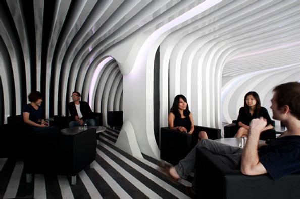 Коктейль-бар ZeBar от 3GATTI Architecture Studio в Шанхае