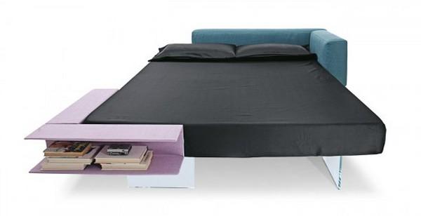 Floating Bed («Плавающая кровать») с книжной полкой от Lago