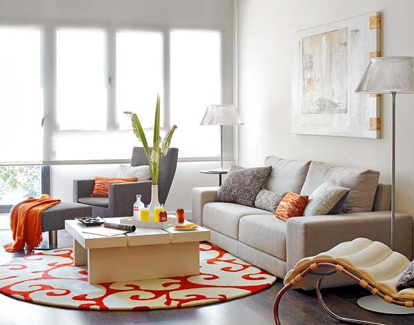 Серый+оранжевый – атмосфера гармонии и новый тренд