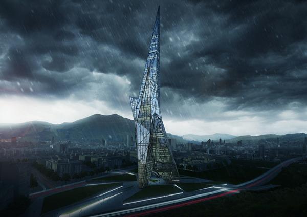 Проект небоскреба Taiwan Tower от OODA и OOIIO