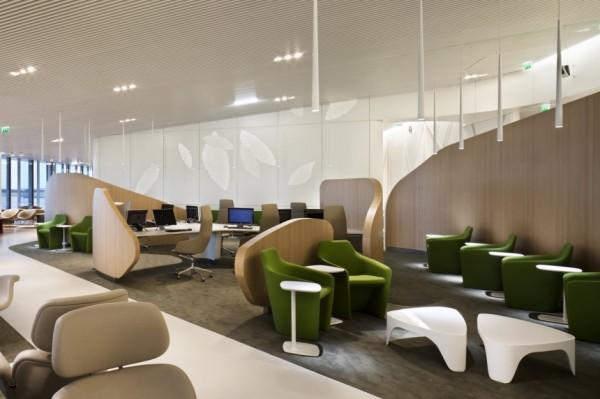 Новый бизнес-зал аэропорта Шарля де Голля (Charles de Gaulle airport) в Париже