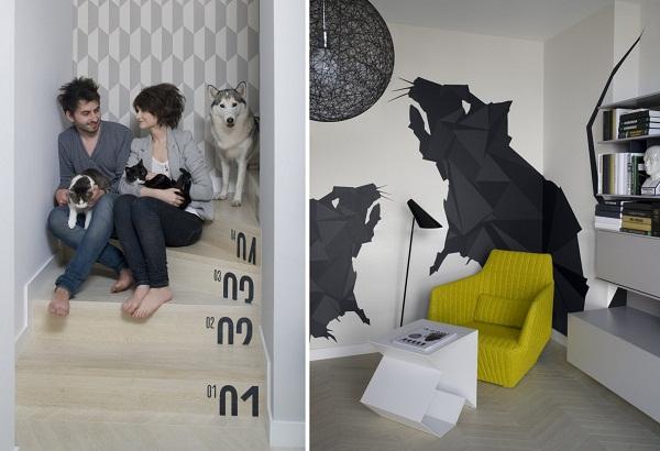 Apartment in Krakow - квартира для молодой креативной пары в Кракове (Польша)