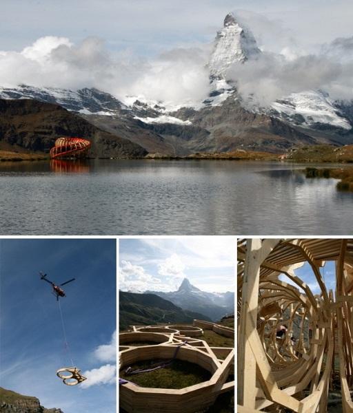 Evolver - интерактивная смотровая площадка в Швейцарских Альпах