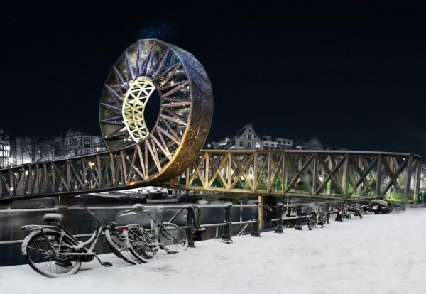 Amstel Loop Iconic - проект пешеходно-велосипедного моста в Амстердаме