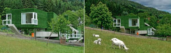 Жилой дом Astroturf Covered Concrete House от Weichlbauer und Ortis в Австрии