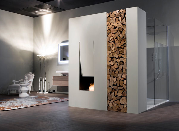 Современные камины для ванных комнат от Антонио Лупи (Antonio Lupi)