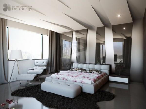 Креативные концепции интерьеров спальни