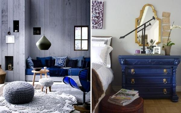 Картинки по запросу синий цвет в интерьере