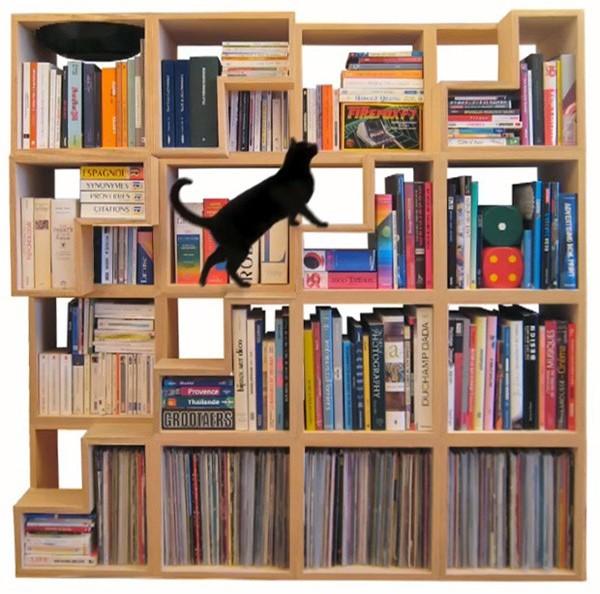 Книжный стеллаж Cat Library от Corentin Dombrecht