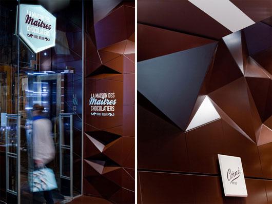 Интерьер бельгийского шоколадного бутика Maison des maitres chocolatiers belges