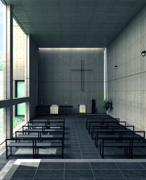 Церковь Church of the Light от Тадао Андо (Tadao Ando) в Японии